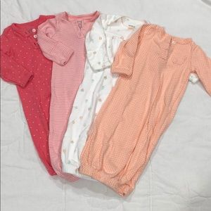 4 Carter's Sleeper Gowns 😴